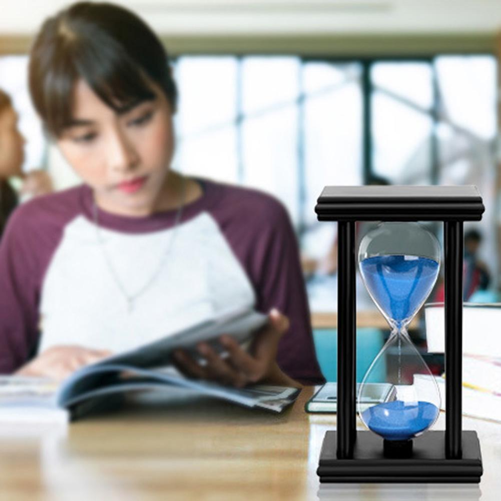 45/60min Wooden Sand Clock Sandglass Hourglass Timer Kitchen School Home Decor Intelligence Developmental Toys Gift For babys недорого