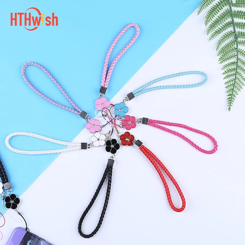AliExpress - Mobile Phone Strap Smart Phone Key Holder Ring Flower Lanyard Phone Accessory Cord Phone Hand Rope Keychain for iPhone x