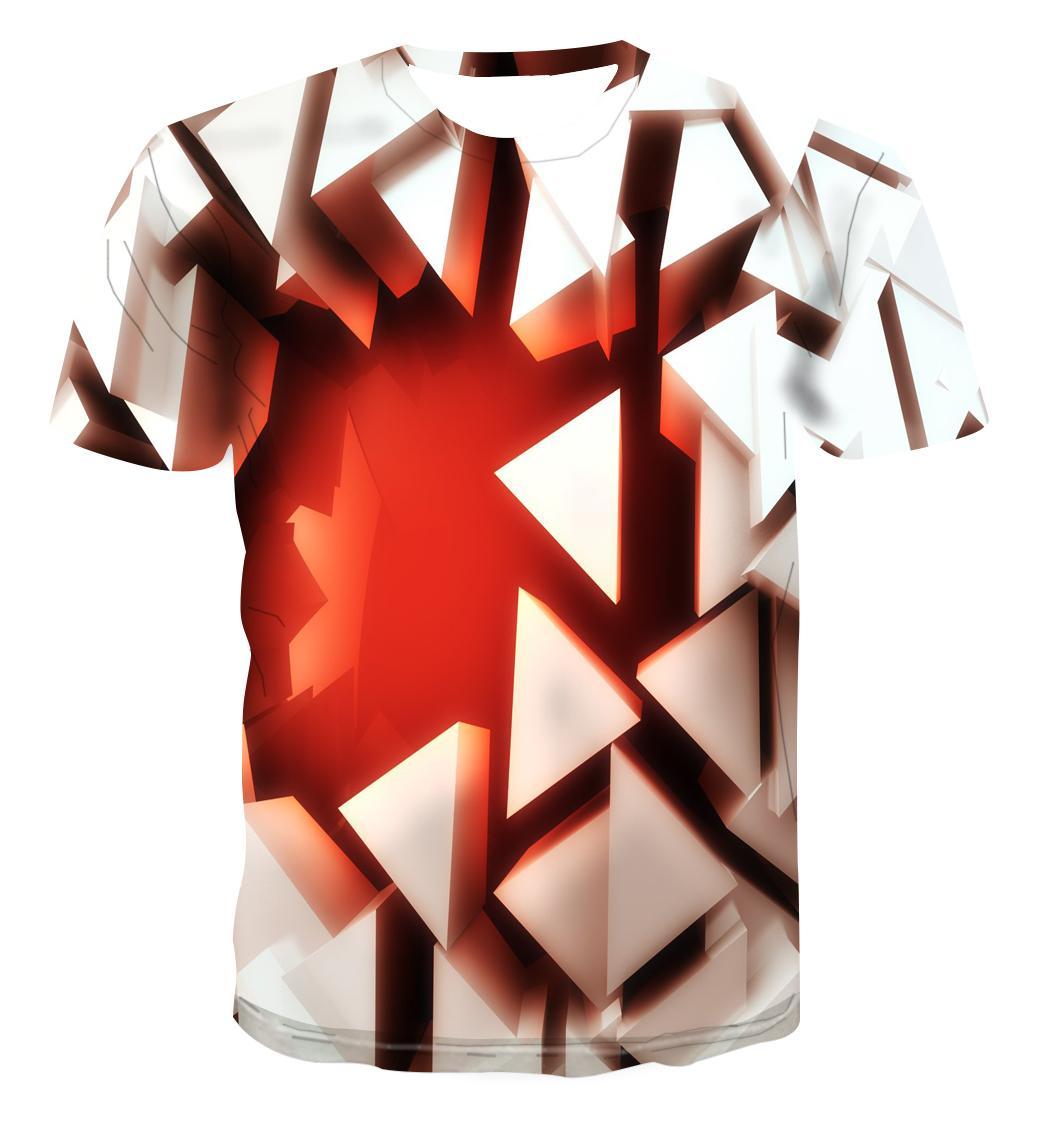 Camisetas con estampado de ladrillo rojo para hombre, camisetas informales de manga...