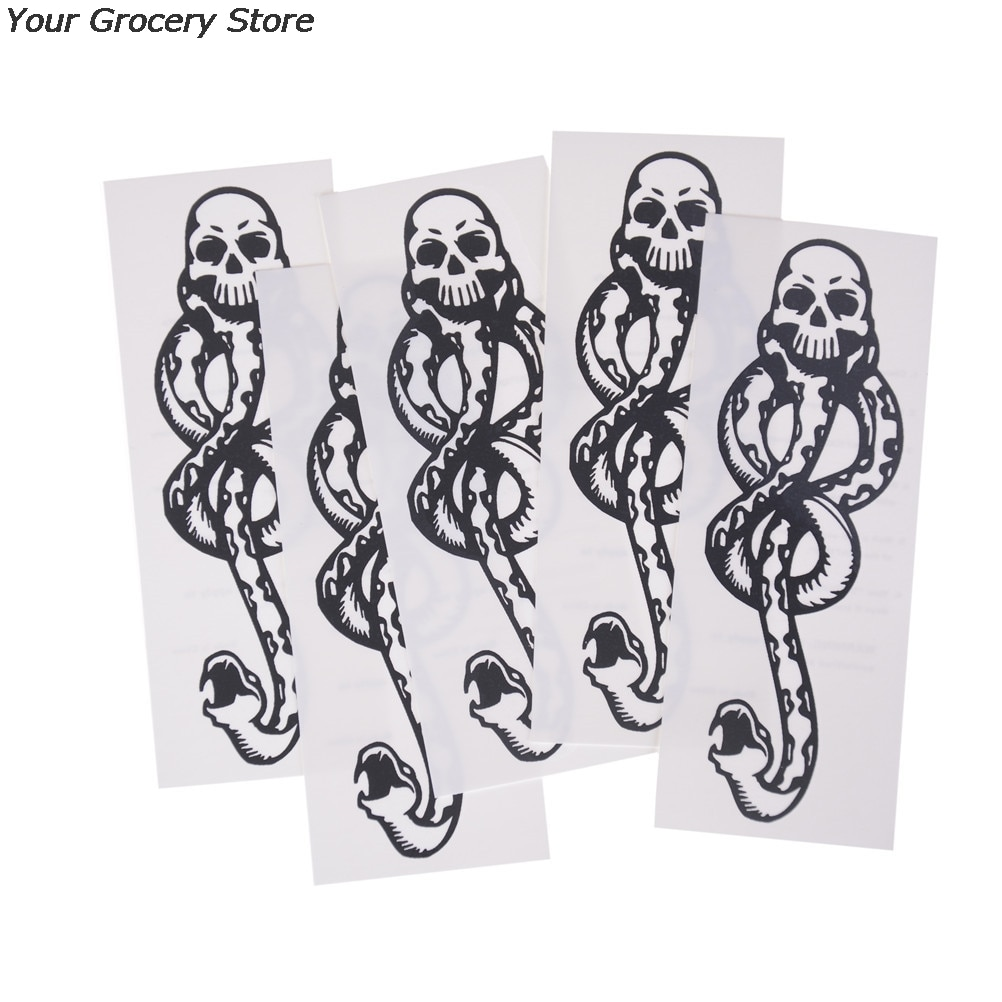 1/5PCS Death Eaters Dark Mark Make Up Tattoos Stickers Cosplay Accessories And Dancing Party Dance Arm Art