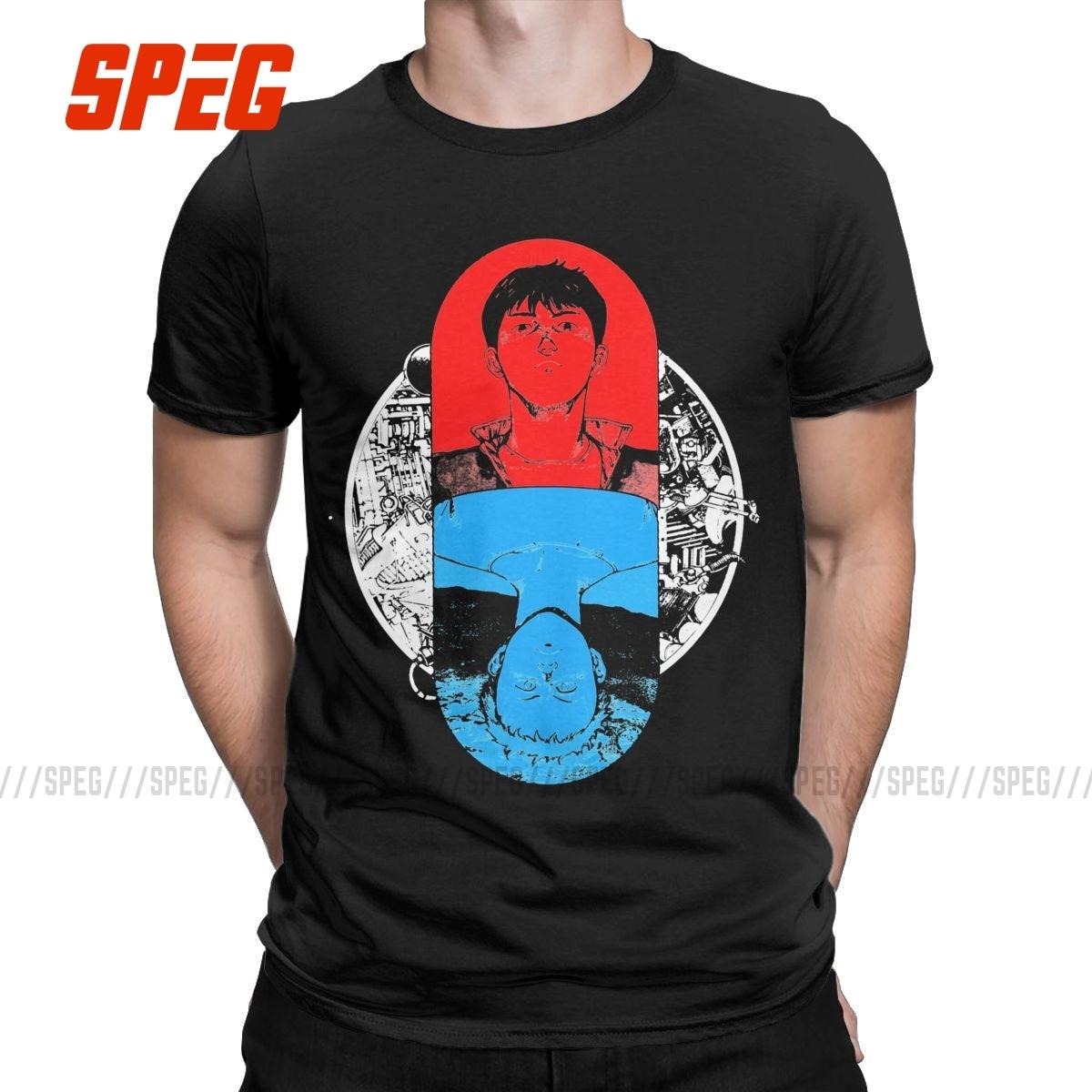Cápsula de los hombres Akira Shotaro Kaneda Anime The Pill Camiseta 100%...