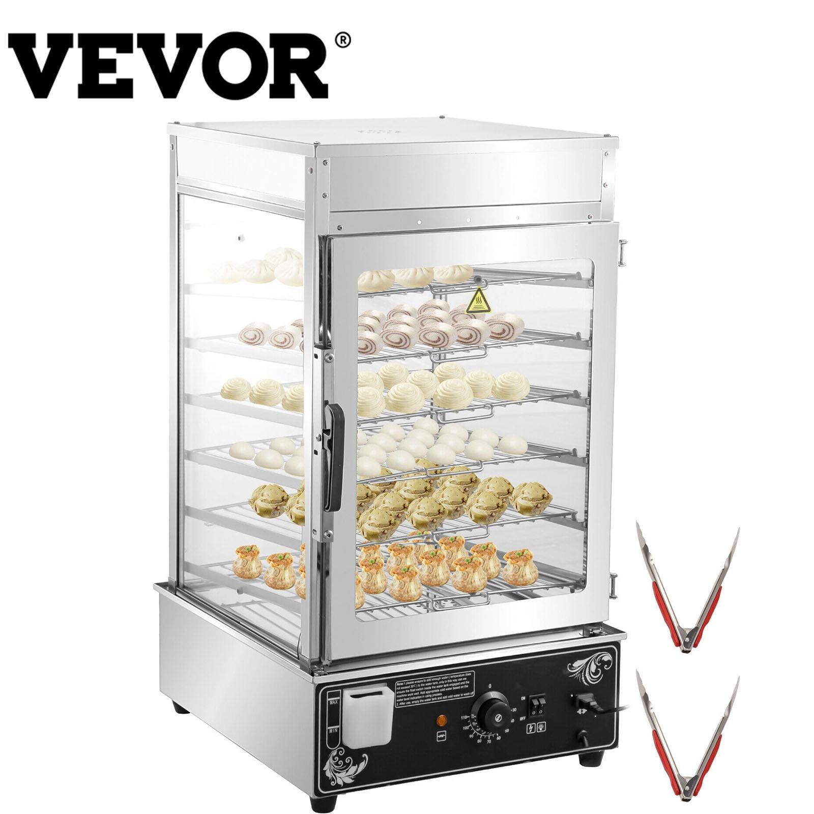 VEVOR 5/6-Layer الكهربائية كعكة باخرة دفئا CE المعتمدة الغذاء الصف الفولاذ المقاوم للصدأ مع التحكم في درجة الحرارة الخبز الاستخدام التجاري