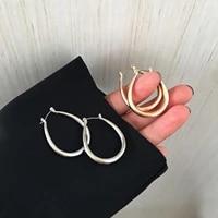 8seasons 1 pair simple hoop earrings u shaped for women girls punk style fashion party club earrings jewelry gifts 35x 28mm
