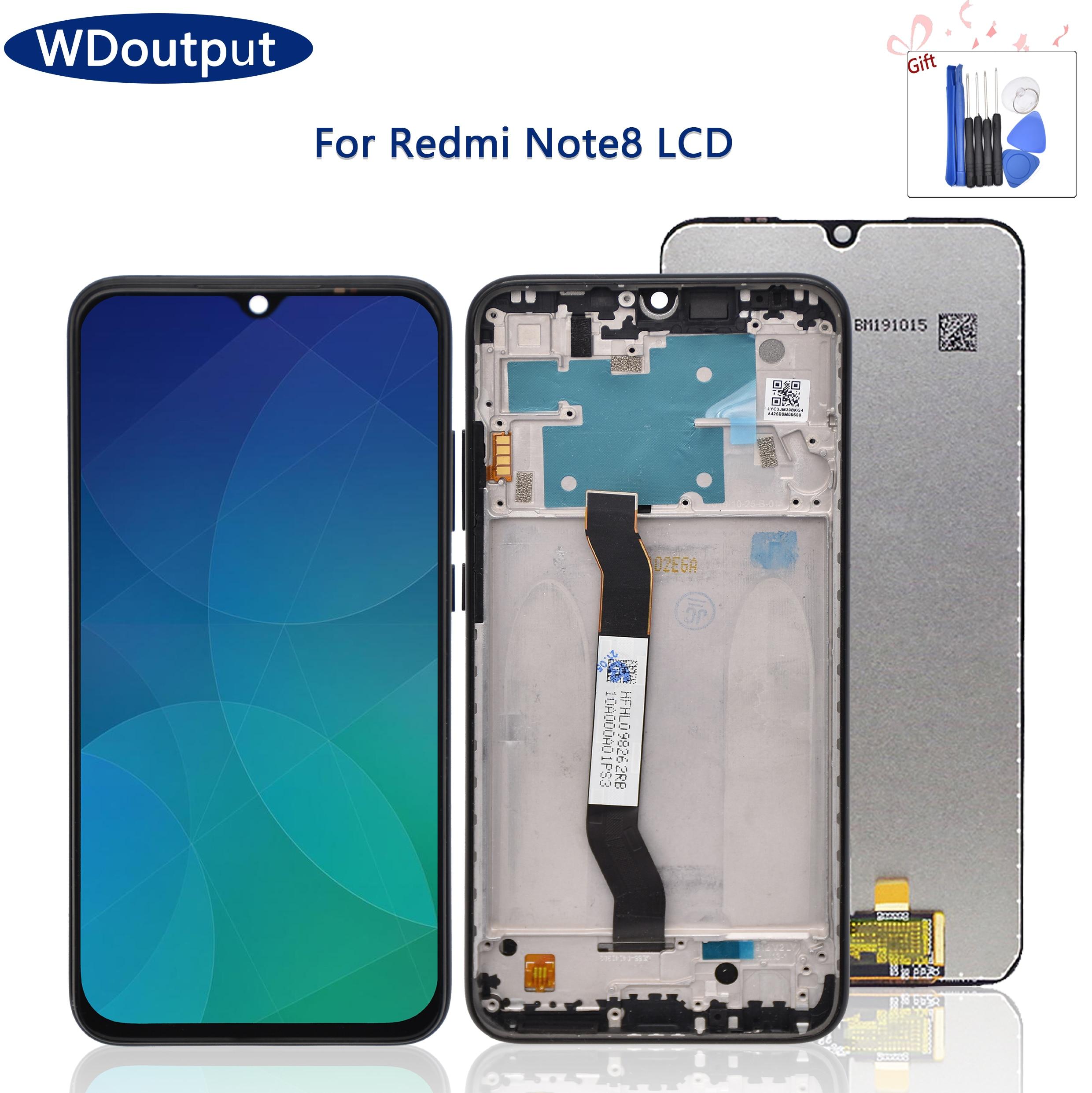 الأصلي عرض استبدال ل شاومي Redmi نوت 8 LCD عرض تعمل باللمس محول الأرقام الجمعية ل Redmi نوت 8 M1908C3JH + الإطار