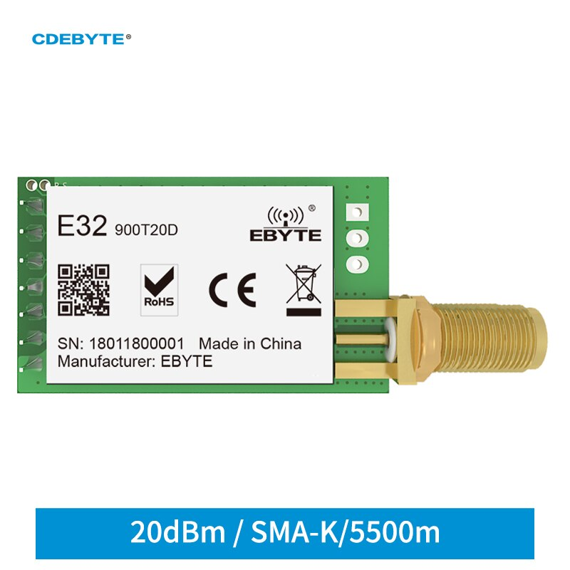 868mhz 915mhz cojxu e43 900t13s3 low cost iot module development board uart wireless transceiver transmitter receiver Ebyte E32-900T20D LoRa SX1276 868MHz 915MHz 20dBm 100mW Wireless RF Module IoT UART Transmitter and Receiver