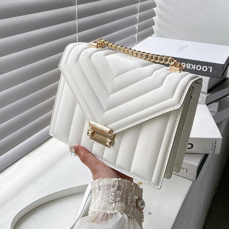 2021 sweet v-line crossbody bag for feminine fashion sac a female main shoulder bag feminine purses and strap bags