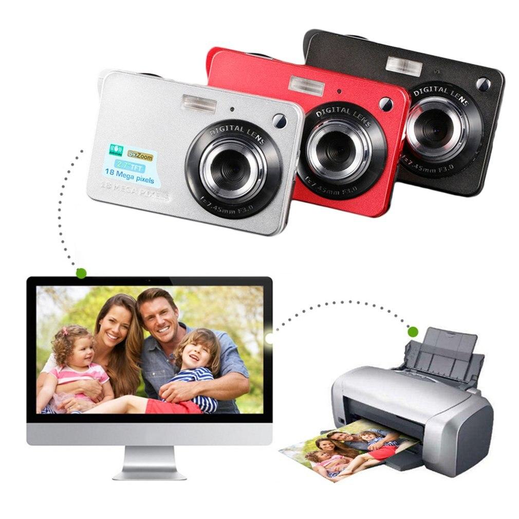 2.7 بوصة TFT شاشة الكريستال السائل 18MP 720P 8x التكبير كاميرا رقمية المضادة للاهتزاز مسجّل وكاميرا فيديو CMOS كاميرا دقيقة الأطفال هدية