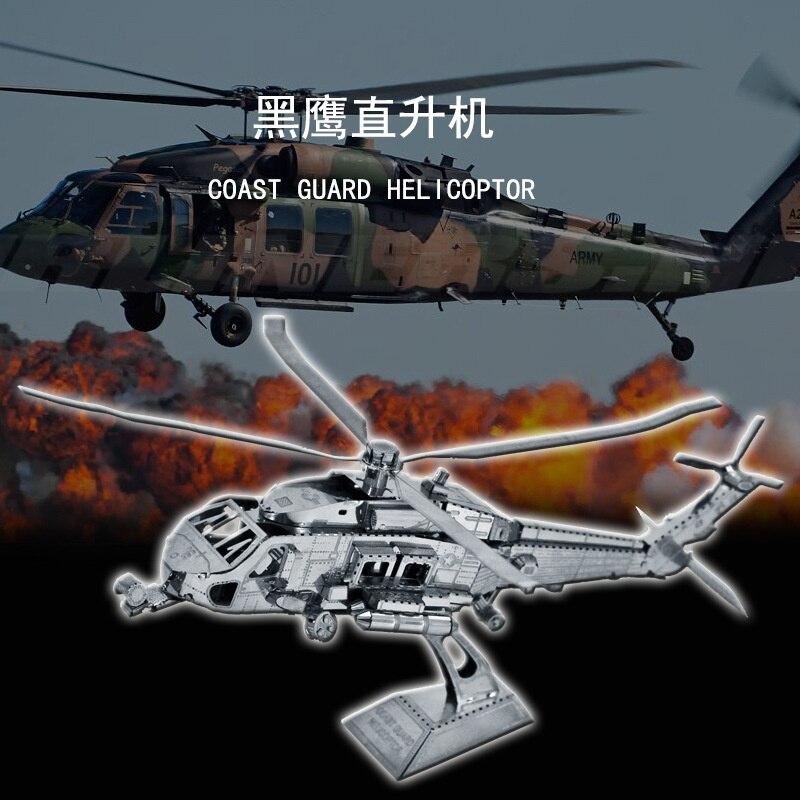 Rompecabezas 3D DIY de la guardia de la costa de metal, helicóptero,...