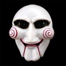 Máscara de marioneta de sierra para fiesta de Halloween, disfraz Popular de Billy, rompecabezas, accesorios, máscaras, suministros de ambiente festivo