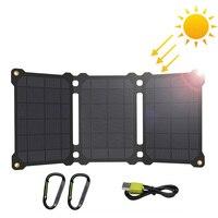 Солнечные панели ALLPOWERS, водонепроницаемое зарядное устройство на солнечной батарее для iPhone 7 8 X Xr Xs max Huawei P30 Mate 30 Pro Samsung Xiaomi 10 и т. д.