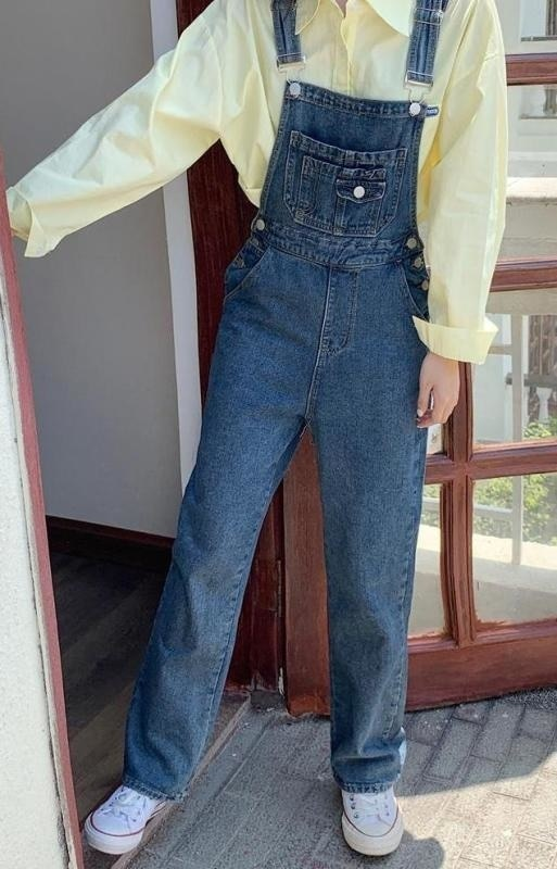 Real Photo of Autumn Clothing New Large Size Women's Clothing Cargo Overalls