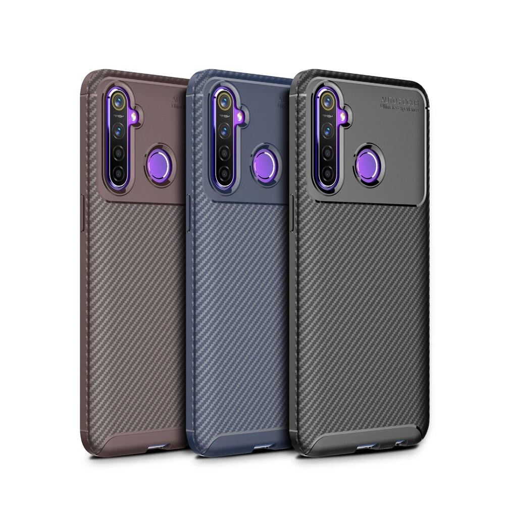 Uflaxe caso de telefone para realme u1 c1 c2 c11 c15 v5 capa macia de fibra de carbono à prova de choque resistente ao impacto ultra-fina embalagem 02jkc