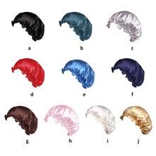 1pc Adults Satin Solid Sleeping Hat Bonnet De Nuit Night Sleep Cap Hair Care Bonnet Nightcap For Wom
