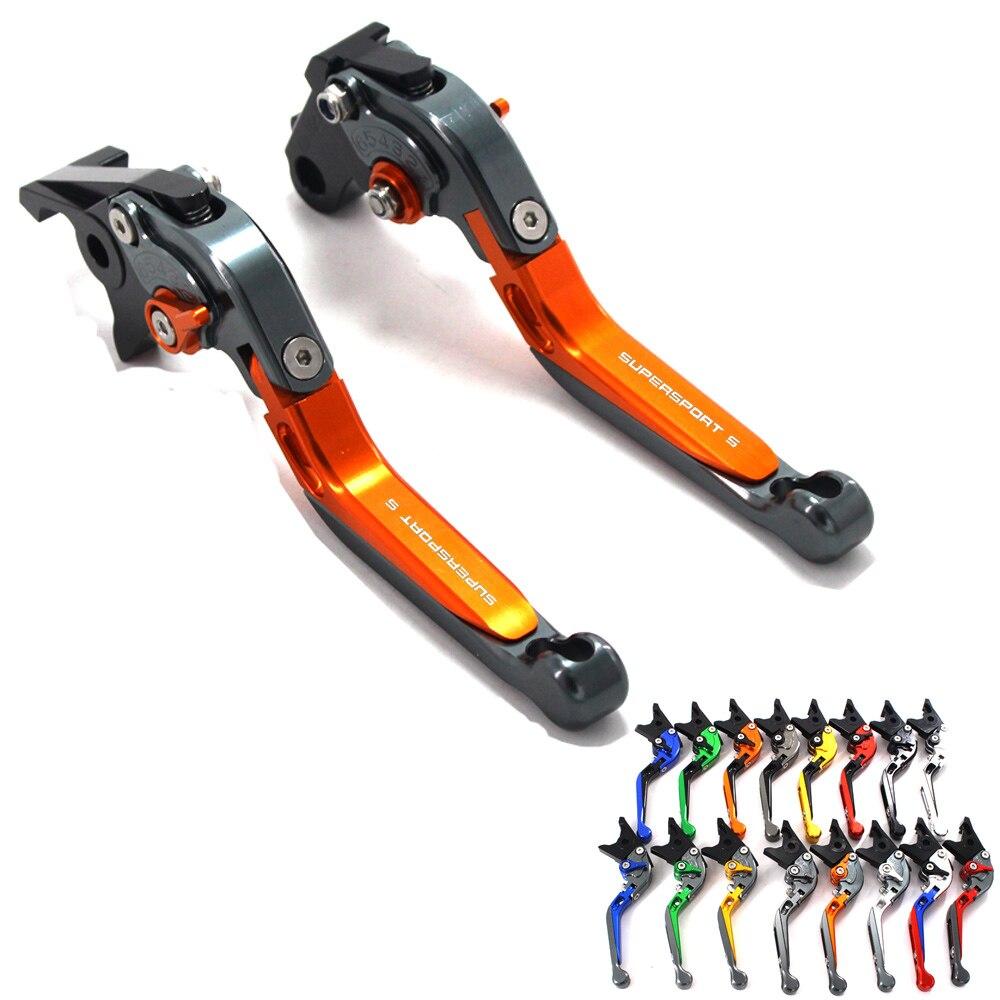 Para Ducati SUPERSPORT 2017 S 2018 CNC ajustable extensible plegable de la motocicleta palancas de embrague de freno