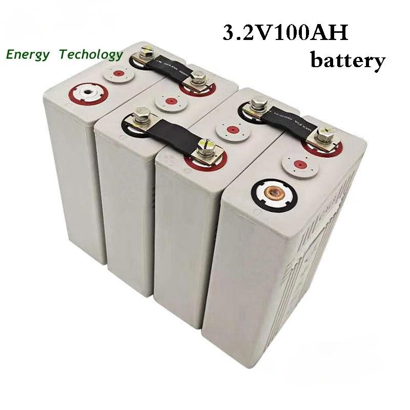 16 قطعة CALB 3.2 فولت 100 أمبير LiFePO4 بطارية قابلة للشحن الصف A 200AH البلاستيك se100 ٪ ليثيوم الحديد الفوسفات حزم البطارية الشمسية