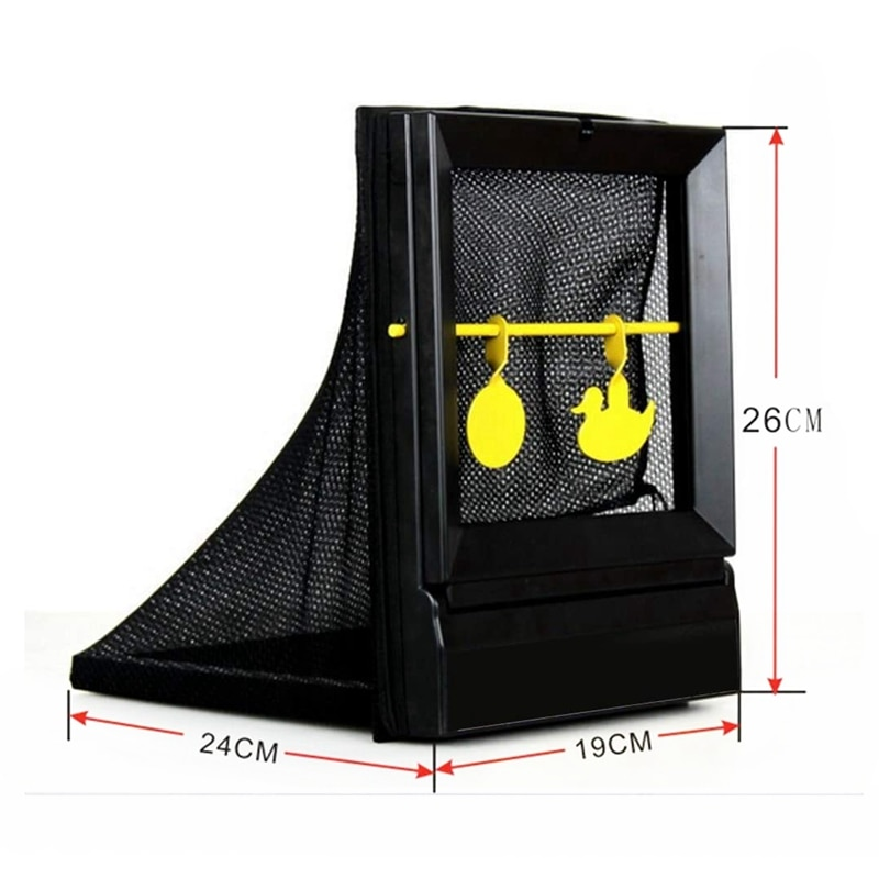 Shooting Targets Portable BB Bullets Recycling Airsoft Aim Target Spinning Air Gun Shooting Metal Target for Paintball Practice