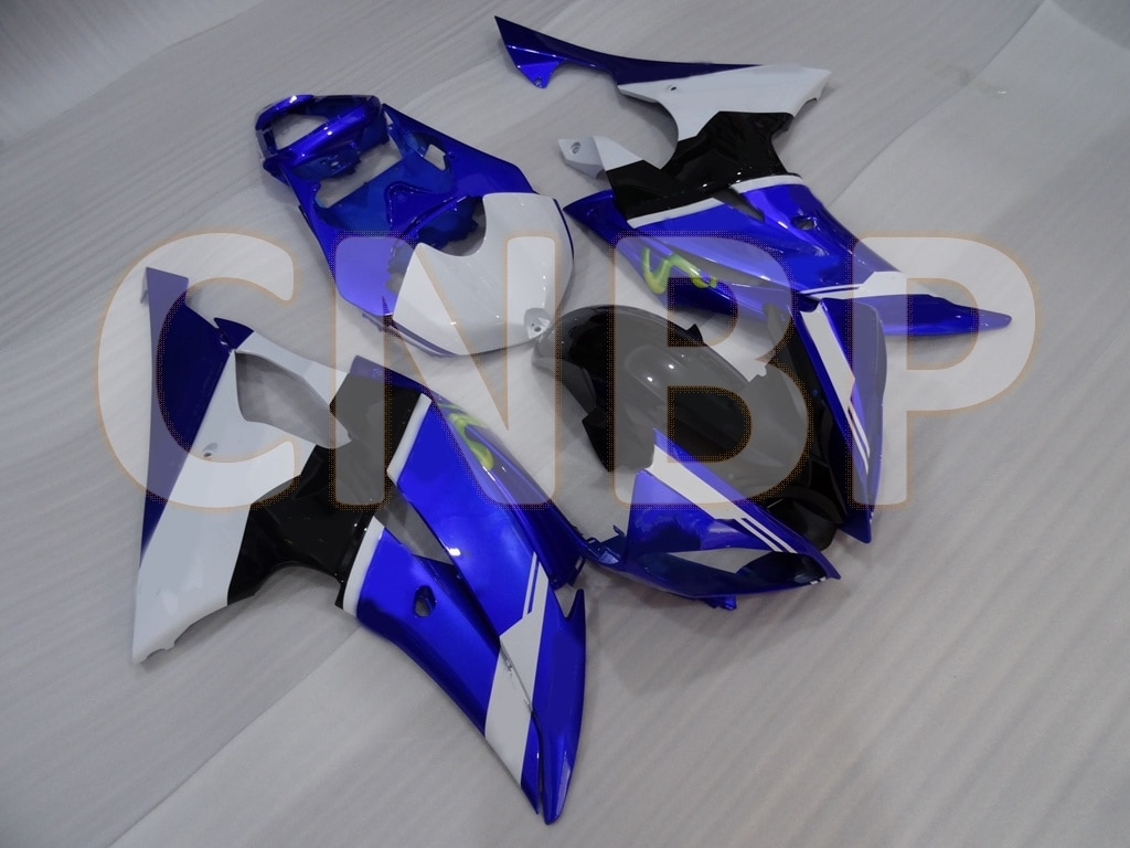 for YAMAHA YZFR6 2008 - 2016 Motorcycle Fairing for YAMAHA YZFR6 2010 Blue White Black Fairing YZF R6 2013 Abs Fairing