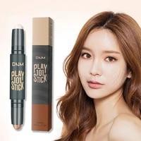 1 double headed contouring pen color lifting concealer stick liquid foundation highlight shadow pen facial contour makeup tool
