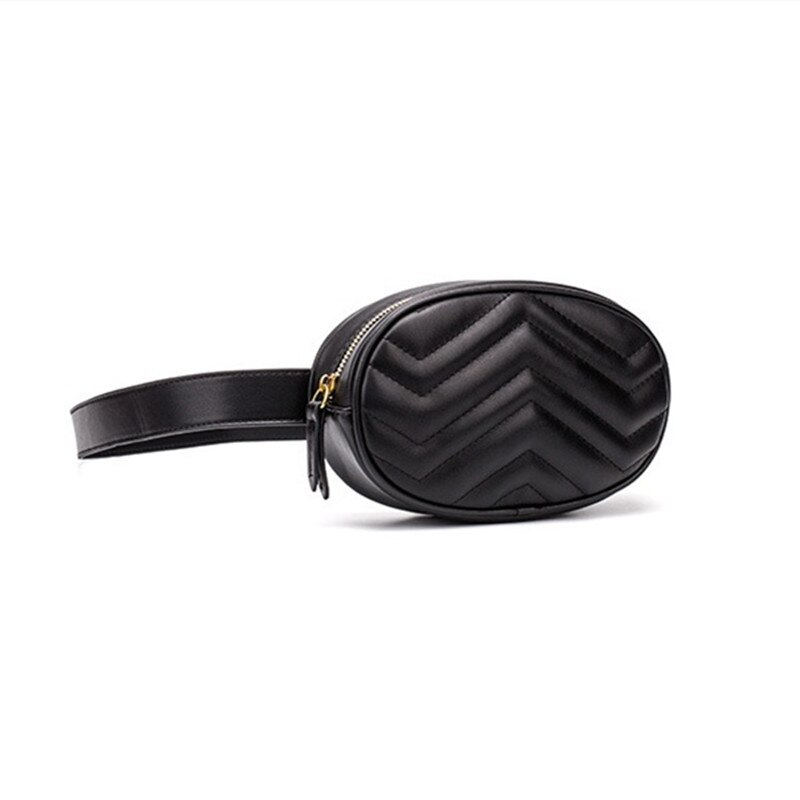 Feminina de Alta Nova Moda Qualidade Bolsas Pacote Acolchoado Cintura Bolsa Cinto Redondo Marca Luxo pu Mini Peito Esportes