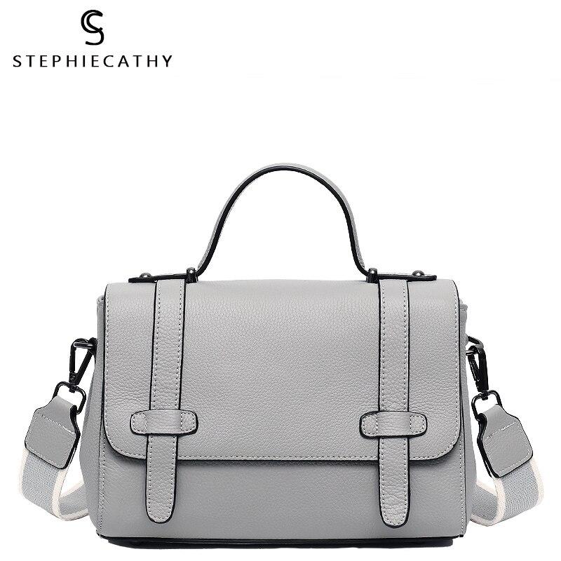SC الفاخرة العلامة التجارية جلد طبيعي حقيبة حقيبة للنساء تصميم الأزياء الأعلى مقبض رفرف حقائب الإناث جلد البقر الكتف Crossbody