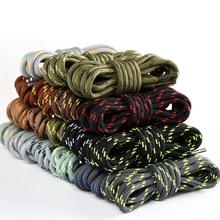 1Pair Round Shoelaces Outdoor Hiking Sports Shoe Laces Kids Sneakers Shoelaces Length 100/120/140/16