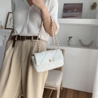 chain design pu leather crossbody bags for women 2021 summer fashion solid color shoulder handbags female travel cross body bag