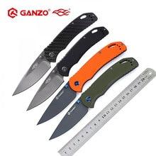 58-60HRC Ganzo G7533 440C G10 ou poignée en Fiber de carbone couteau pliant survie Camping outil couteau de poche tactique edc outil extérieur