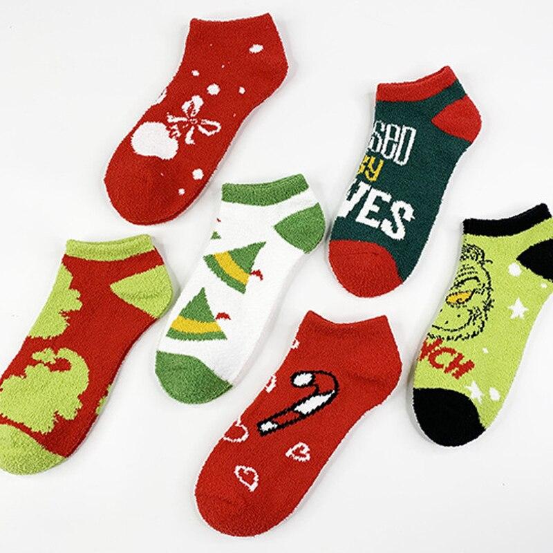 Женские теплые женские носки в стиле аниме, милые зимние толстые повседневные носки, женские пушистые теплые носки, короткие милые носки