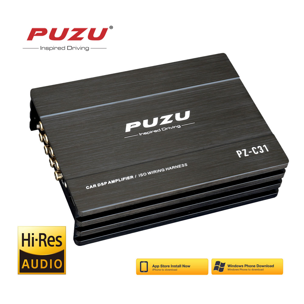 PUZU ISO wiring harness cable Car DSP Amplifier 4X150W support PC tool 31 EQ android APP bluetooth l