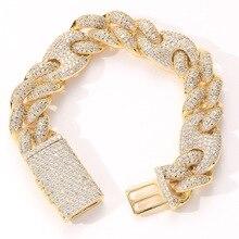 20Mm Breedte Cubaanse Link Armband 31 Hip Hop Iced Out Bling Zirconia Goud Zilver Kleur Armband Enkelband Bangle voor Mannen Vrouwen
