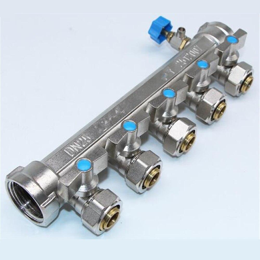 Pressão geotérmica integrada do separador de água da tubulação de aquecimento à terra do forjamento do cobre puro e resistência de corrosão