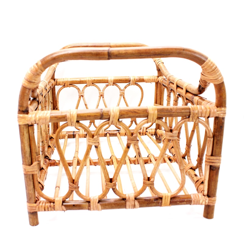 Newborn Photography Props Baby Vintage Woven Basket Photo Shooting Infant Rattan Container Shoot Furniture Posing Accessoire Bed