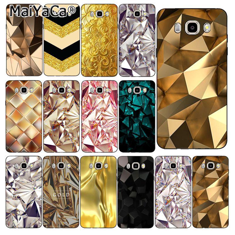MaiYaCa negro y oro diamante caso de teléfono para Samsung Galaxy J7 J6 J8 J4 J4Plus J7 DUO J7NEO J2 J7 primer