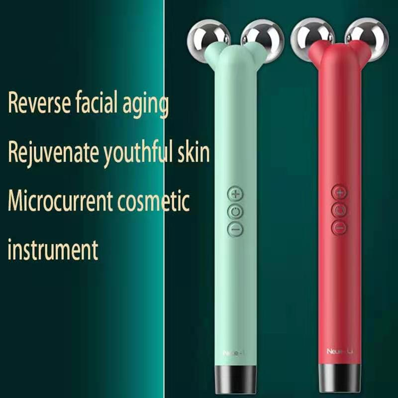 3D Roller Microcurrents for Face Gouache Scraper for Face Skin Care Tool Facial Massager V Face Massager for Face Lift Machine