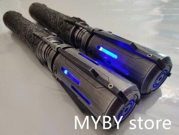 Satele Sabers engraved double bladed staff saber Installed with Proffie2.2 soundboard N-Pixel blade New Pixel Lightsaber