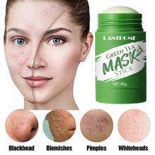 40g Deep Cleansing Green Mask Stick Skin Eggplant Green Tea Detox Stick Mask Moisturizing Hydrating