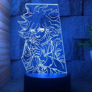 Monokuma Naegi Makoto Kirigiri Kyouko Maizono Sayaka Mondo Owada Figure Anime Night Light Lamp Creative Luminary Illusion Child