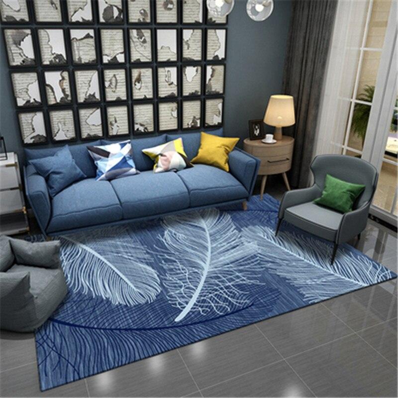 Alfombras rectangulares de estilo nórdico, alfombras/alfombras para dormitorio, mesita de noche, sala de estar