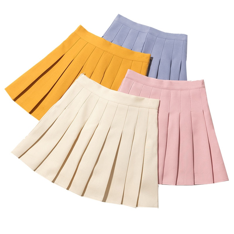 Pink Women Pleated Skirts Summer High Waist Woman Mini Skirts Harajuku Preppy Style Ladies Skirt Sweet Girls Dance Short Skirt