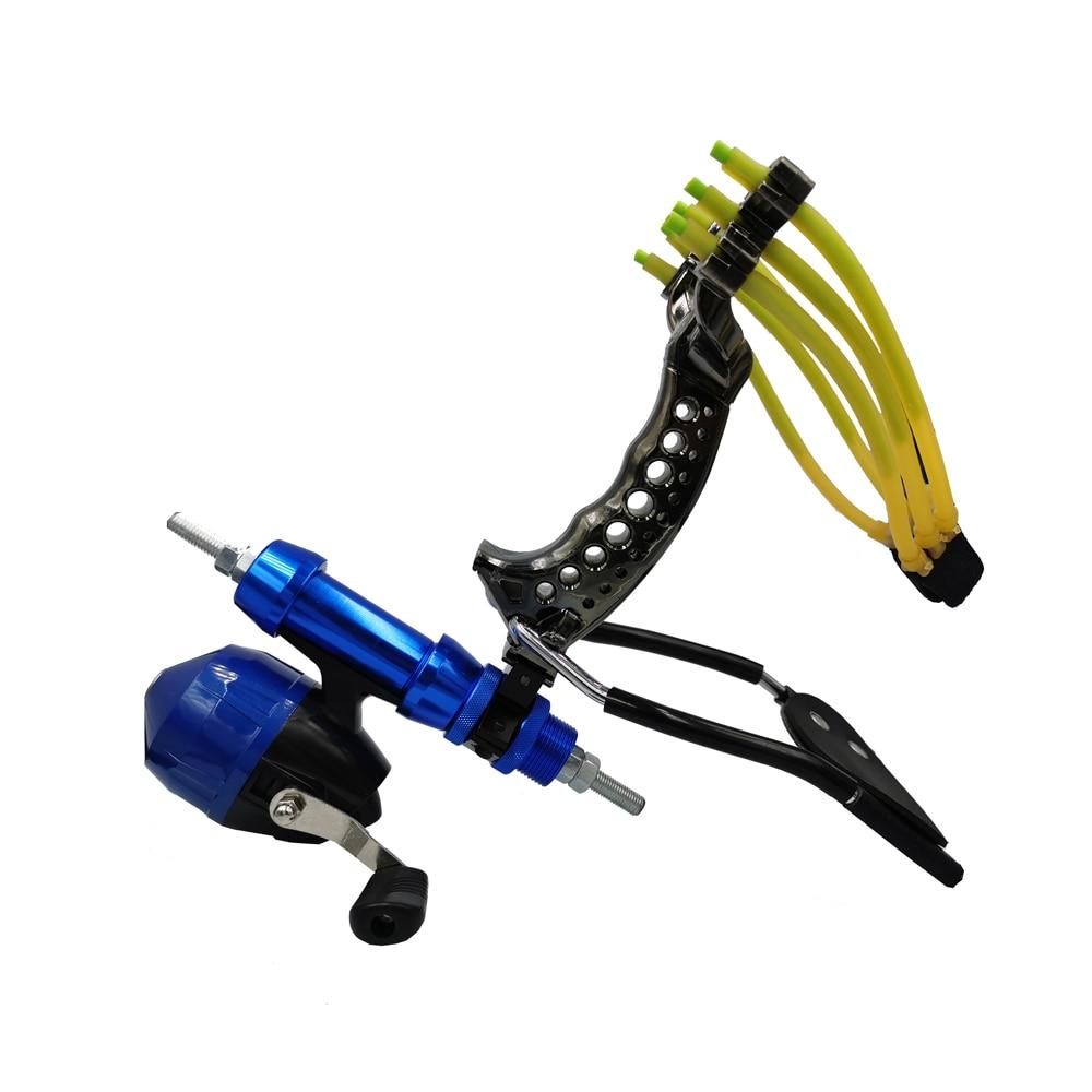 Catapulte puissant multi-fonction fronde tir pêche catapulte ArrowBow pêche attraper chasse vue à emporter 9mm bille dacier