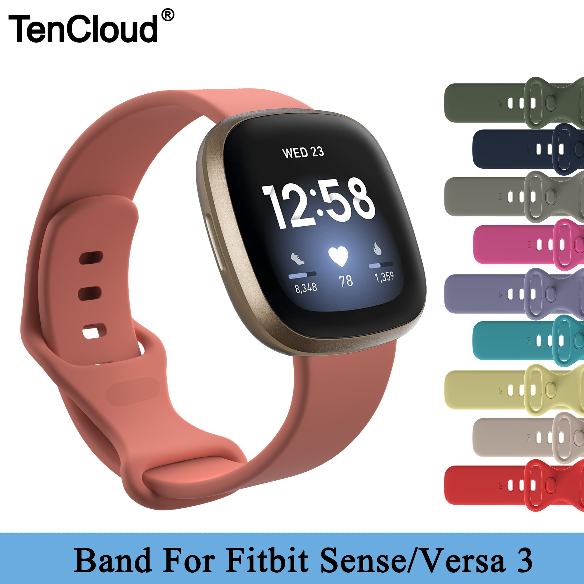 Replacement Band For Fitbit Versa 3 Strap For Fitbit Sense Silicone Bracelet Colorful Wristband Smart Watch Accessoriess Belt