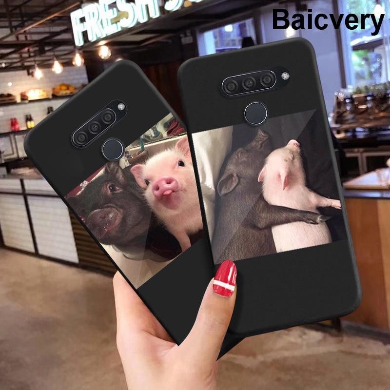 Funda de parachoques de TPU para parejas de cerdos para LG K50S K 50 K50 s, carcasa trasera de teléfono de TPU suave para LG K40 s K40S
