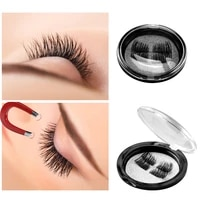 4pcs magnetic eyelashes 3d mink false lashes natural look wholesale handmade reusable long thick cross fake false eyelashes set