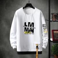 crewneck sweatshirt men 2021 spring harajuku oversized japanese streetwear hip hop black hoodie men sweatshirts hoodies male