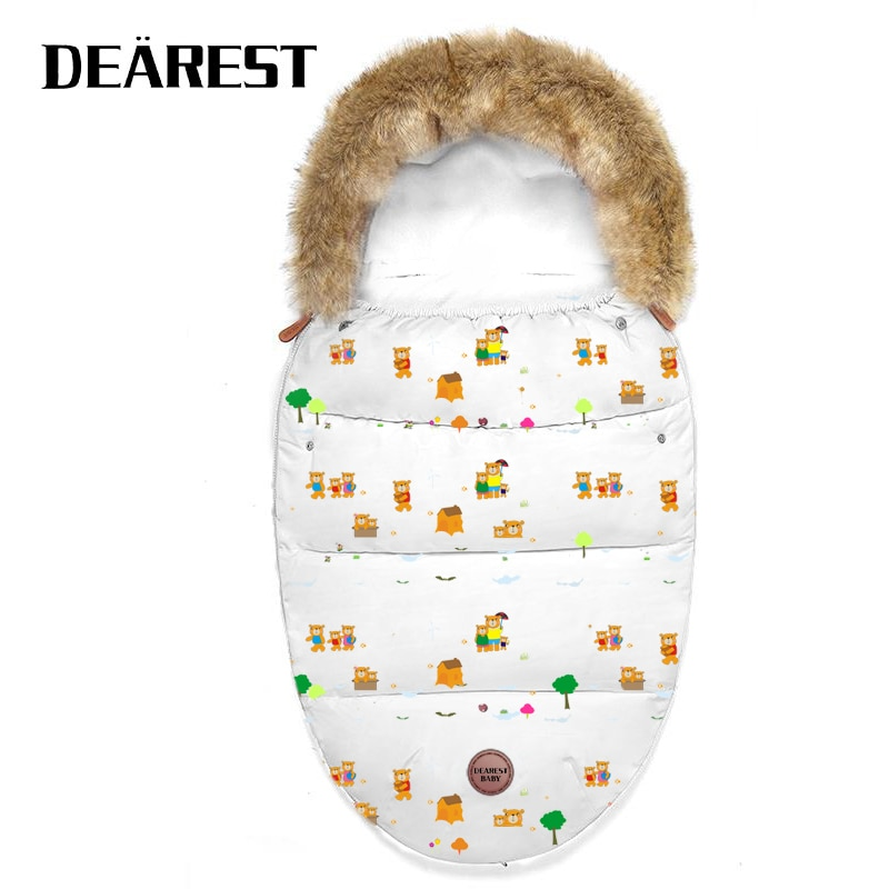 Dearest Sleep bag Autumn and Winter Stroller Baby Sleeping Bag Outdoor Button Baby Knitted Sleeping Bag