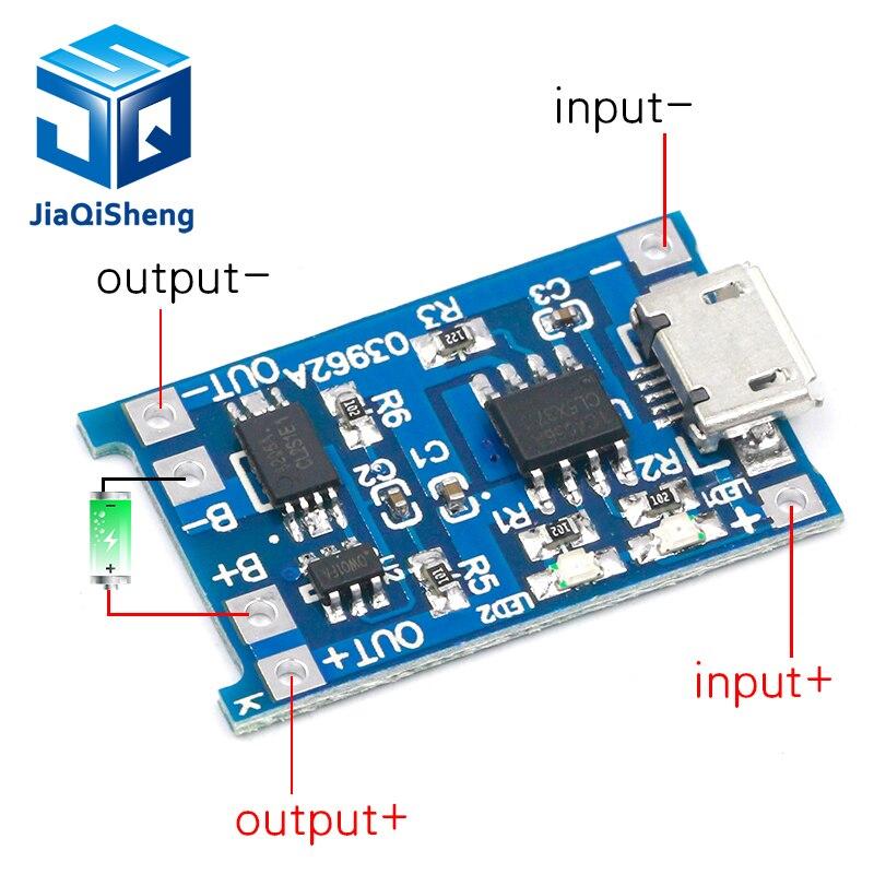 Eletrônica inteligente 5v micro usb 1a 18650 placa de carregamento da bateria lítio com módulo carregador proteção para arduino kit diy