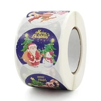 500pcsroll merry christmas santa claus label stickers scrapbook card packaging gift box label sticker for navidad new year 2021