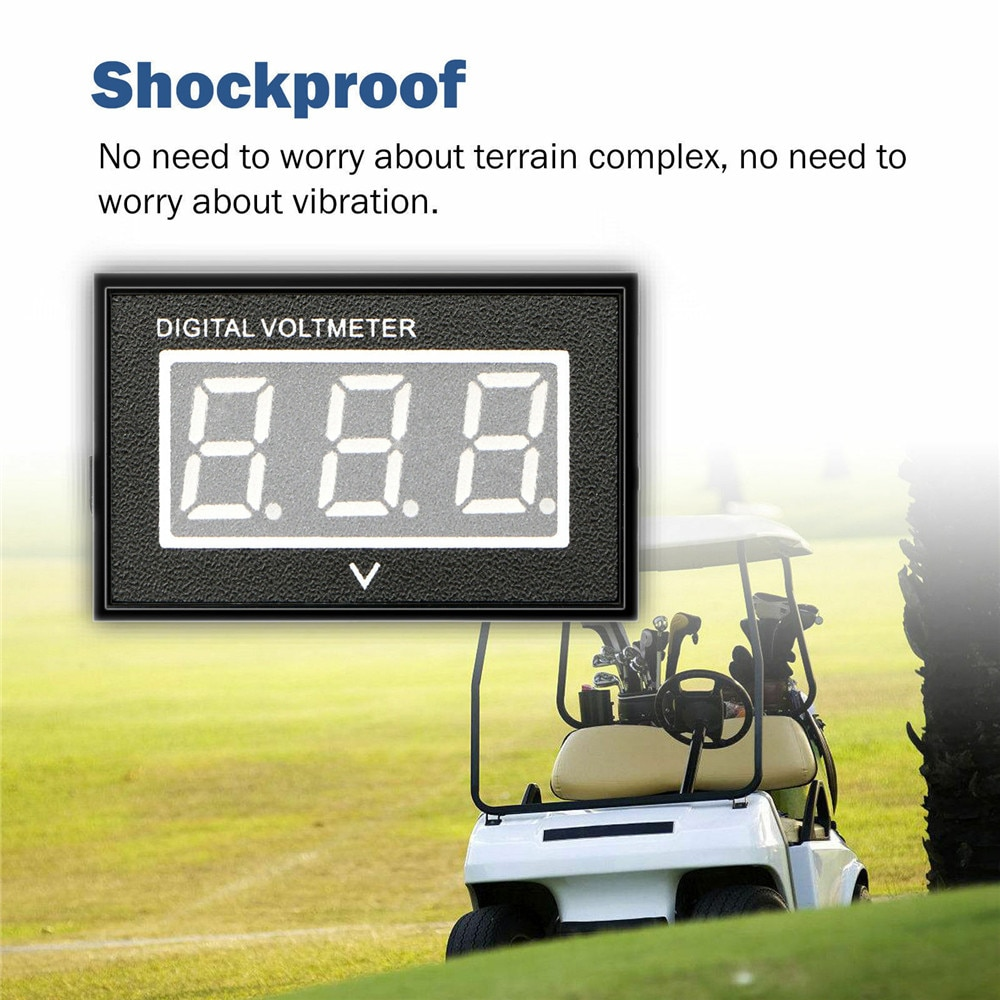 36 V para carrito de Golf LCD Digital voltímetro indicador de batería Club coche EZGO Yamaha 36 voltios azul accesorios de coche nuevas llegadas 2020