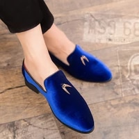 fashion party and wedding handmade men loafers men velvet shoes leaves and gold buckle men dress shoe mens flats