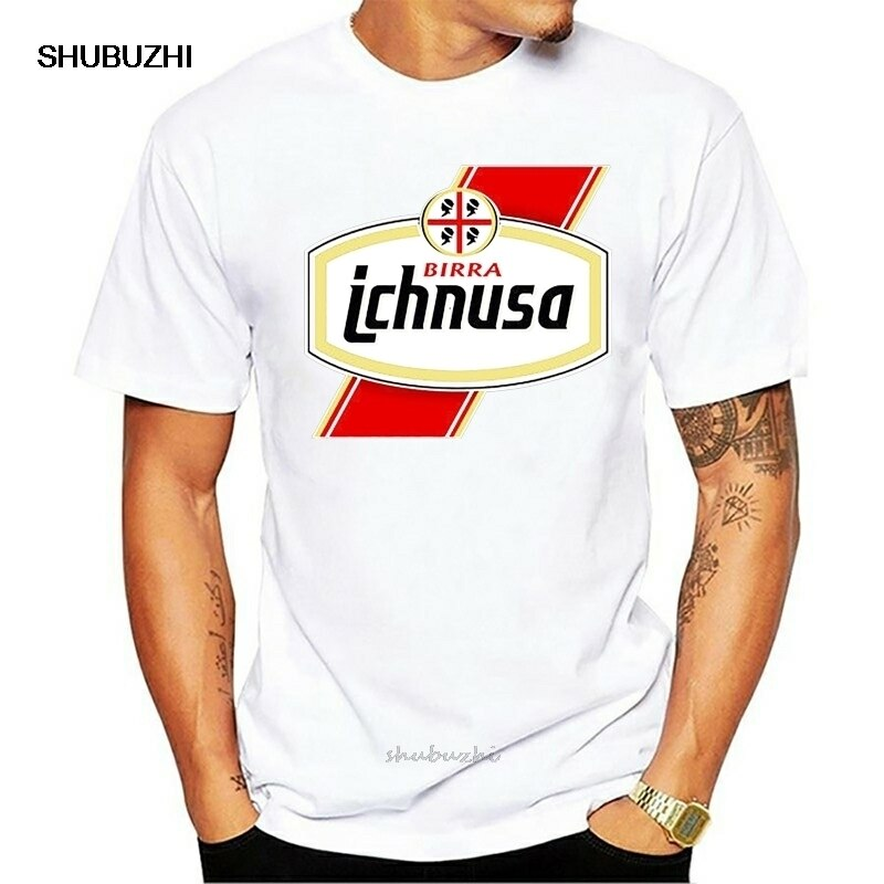 Ichnusa Birra camiseta negra cerveza Sardinia Italia alcohol algodón camiseta hombres verano moda Camiseta talla europea